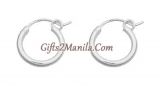Sterling Small Silver Hoops