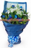 Blue Rose With Lilies