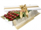 Elegant red rose in box
