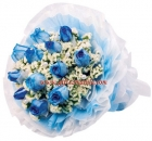 Imported Blue Rose Bouquet