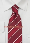 Red and White Striped Necktie