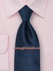 Solid color necktie in dark blue