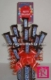 Snickers bouquet with happy birthday card