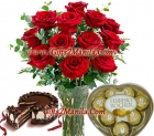 Red Roses Combo Gifts Pack