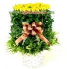 100 Yellow Roses Basket