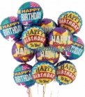 1 Dozen Happy Birthday Balloons