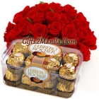 2 Dozen rose with Ferrero